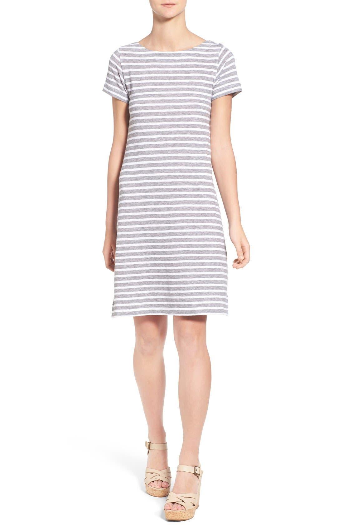 Alternate Image 1 Selected - Vineyard Vines Stripe T-Shirt Dress