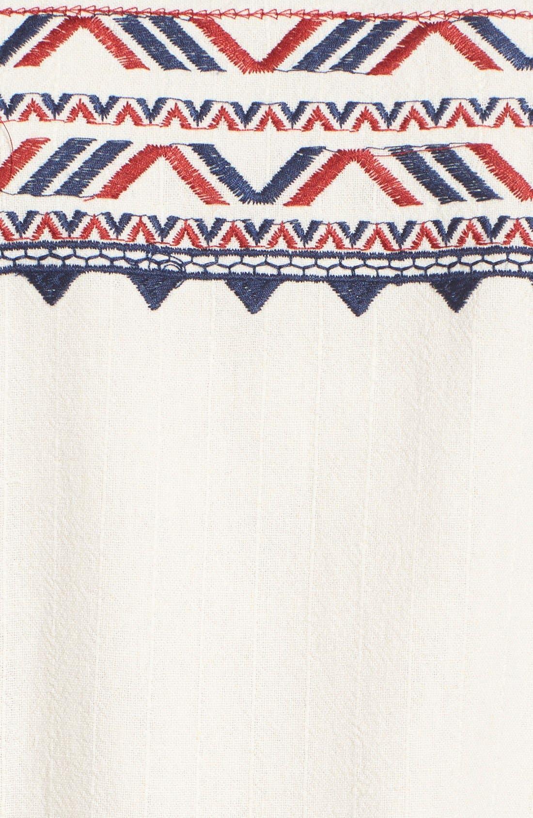 Alternate Image 5  - ASTR Embroidered Shift Dress