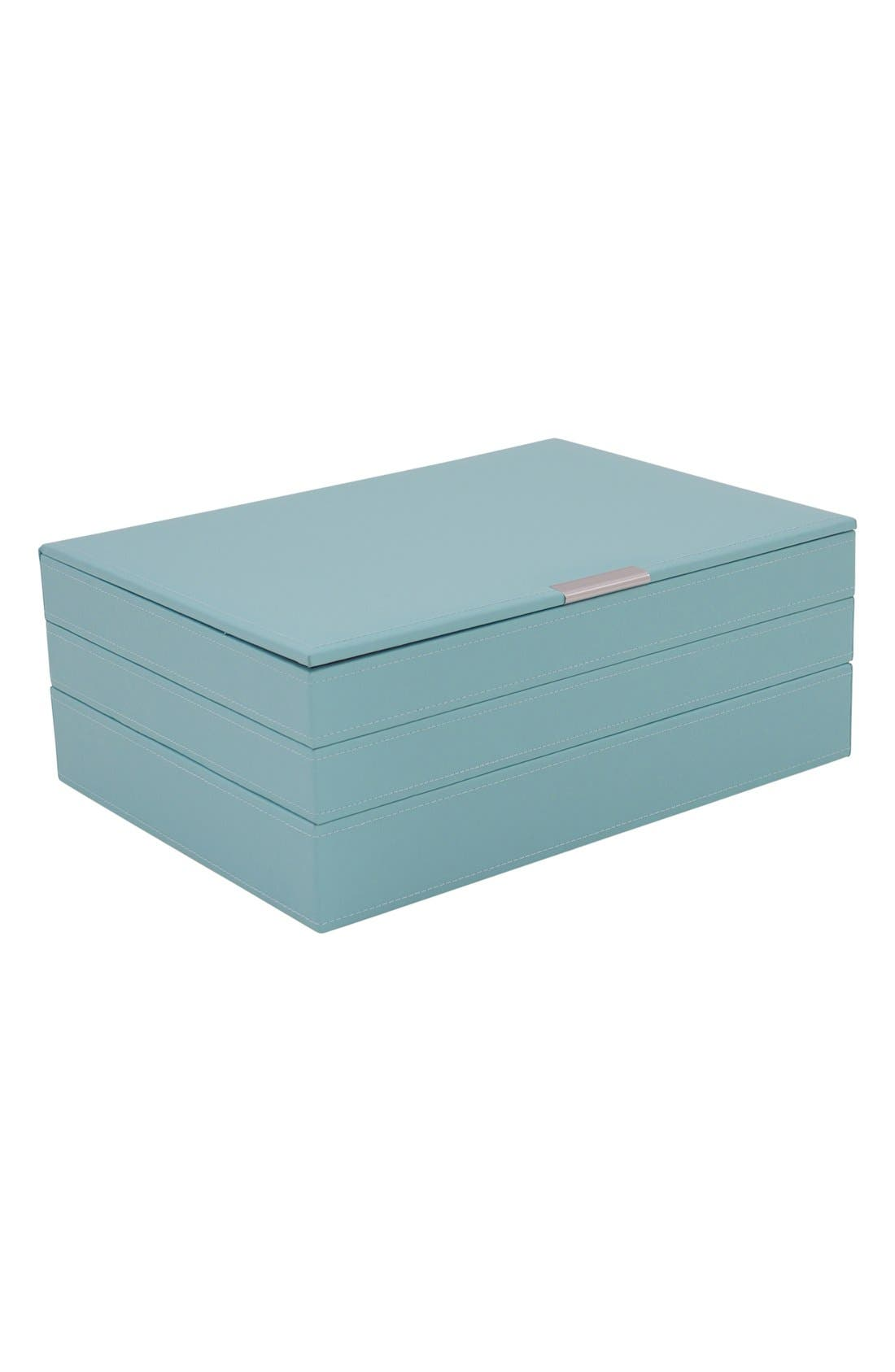 'Large Stackable' Jewelry Trays,                             Alternate thumbnail 2, color,                             Aqua