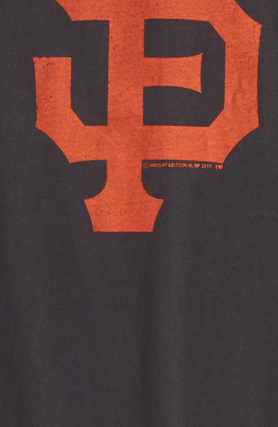 'San Francisco Giants' T-Shirt,                             Alternate thumbnail 2, color,                             Black