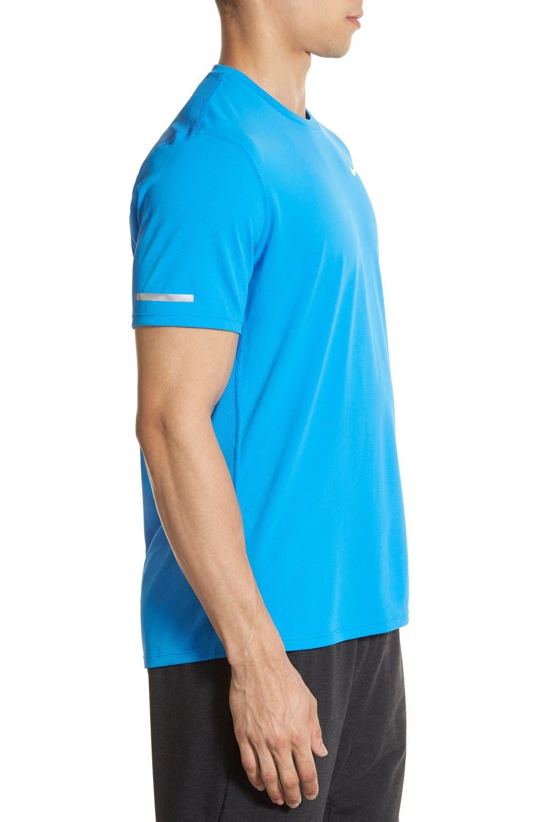 Alternate Image 3  - Nike 'Contour' Mesh Dri-FIT Running T-Shirt