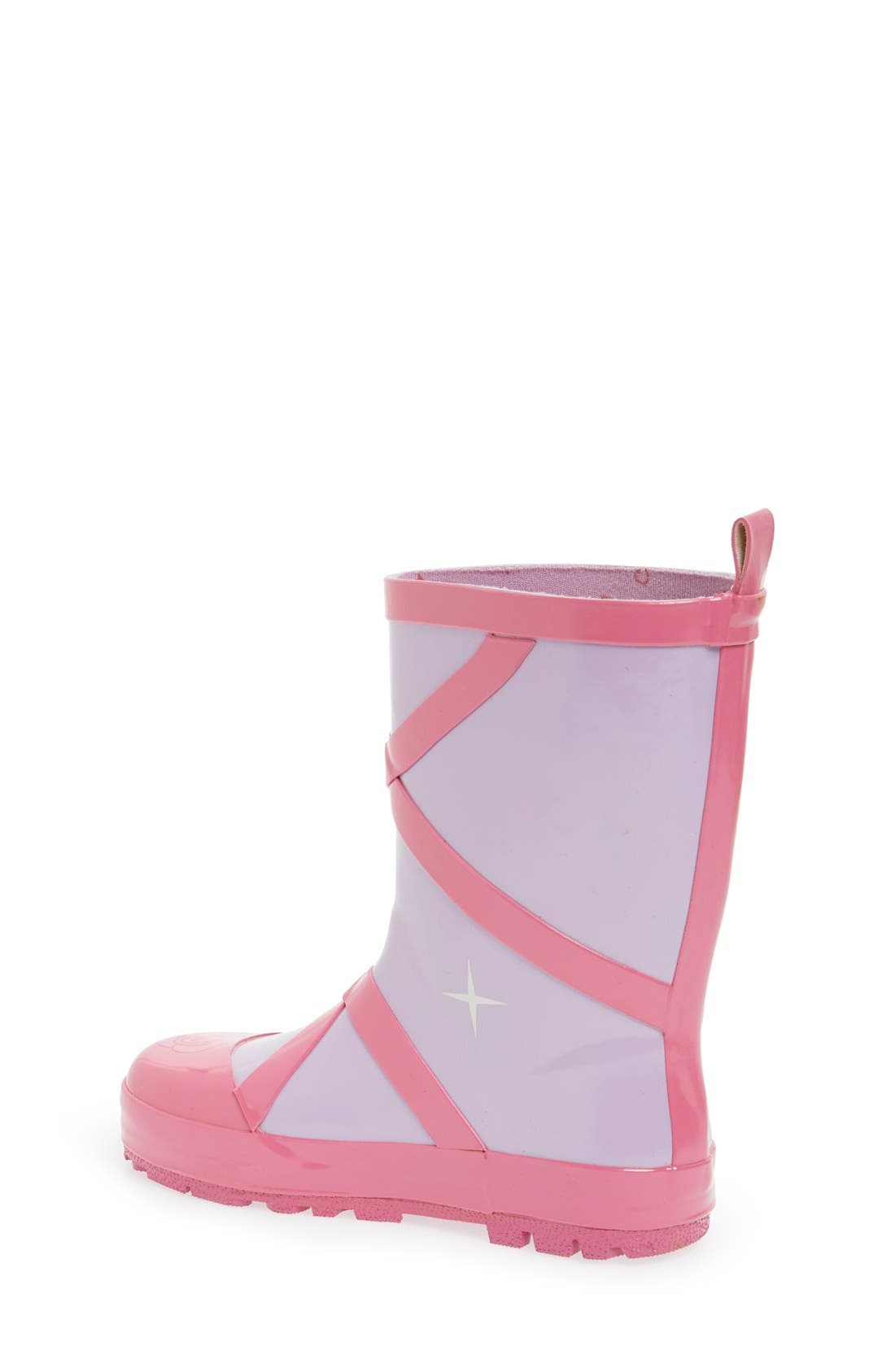 Alternate Image 2  - Kidorable 'Ballerina' Waterproof Rain Boot (Walker, Toddler & Little Kid)