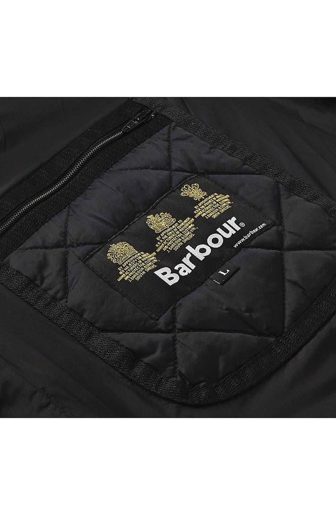 'Akenside' Regular Fit Quilted Jacket,                             Alternate thumbnail 6, color,                             Black