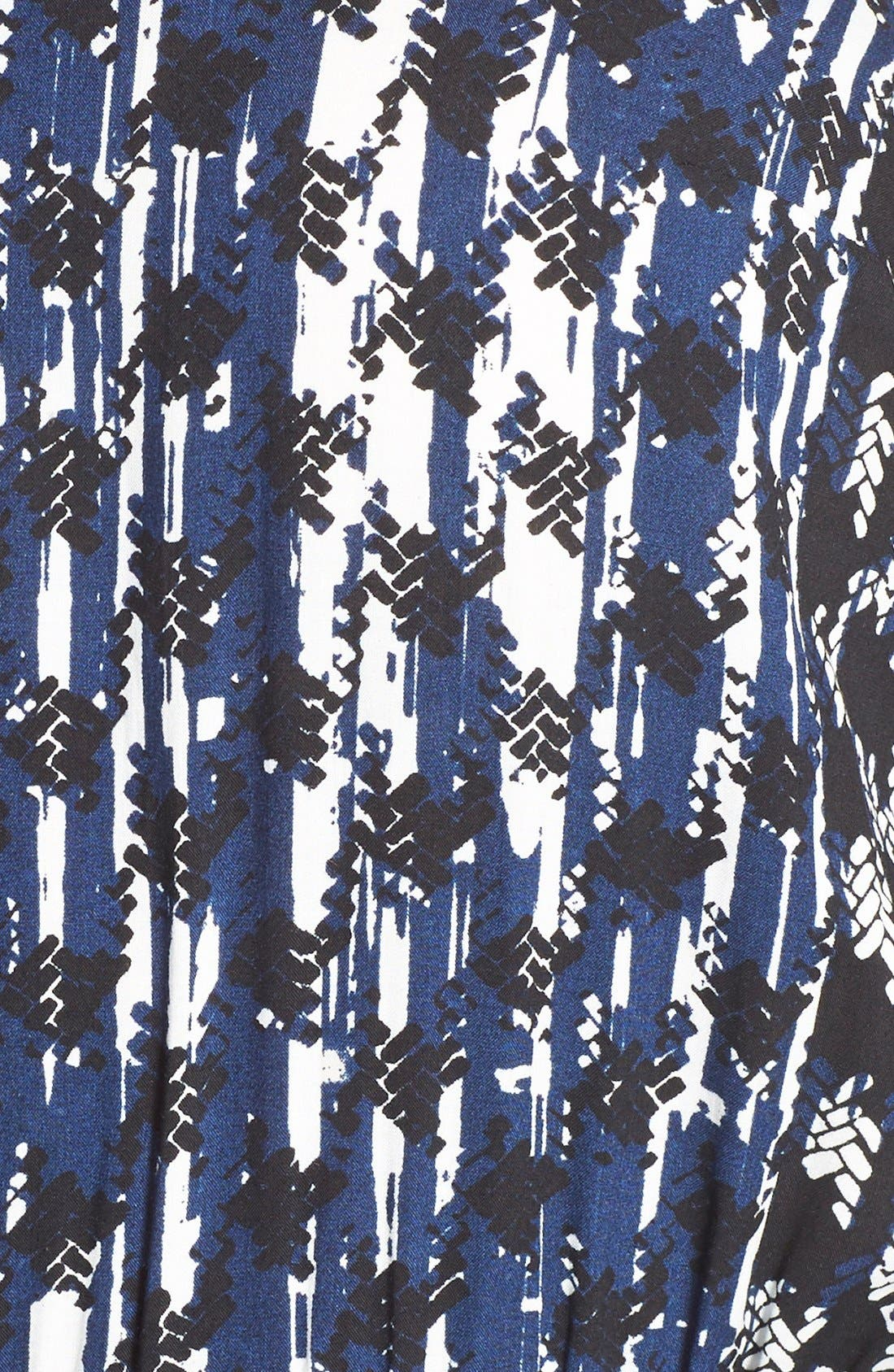 Alternate Image 6  - City Chic 'Barbed' Print V-Neck Jumpsuit (Plus Size)
