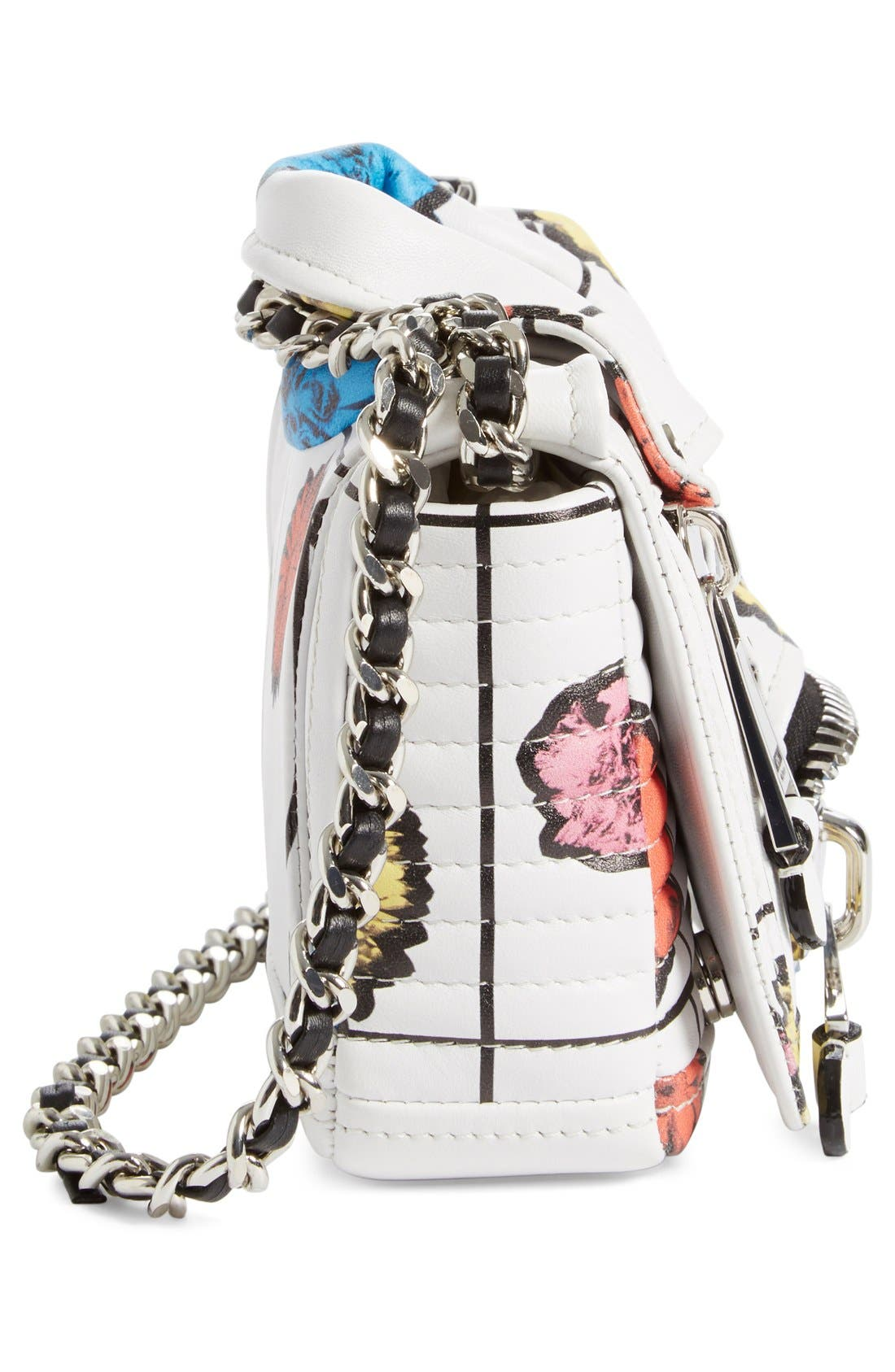 Alternate Image 5  - Moschino 'Small Biker Jacket - Floral Print' Shoulder/Crossbody Bag