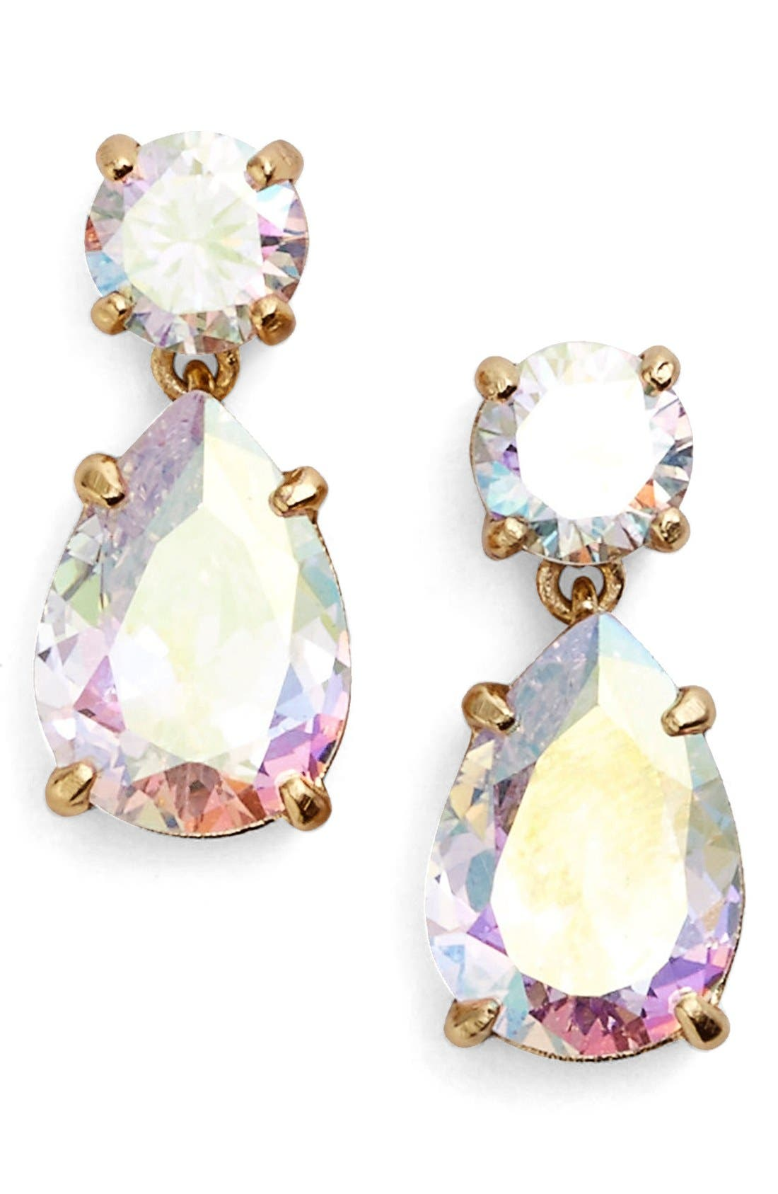 Alternate Image 1 Selected - kate spade new york double drop crystal earrings