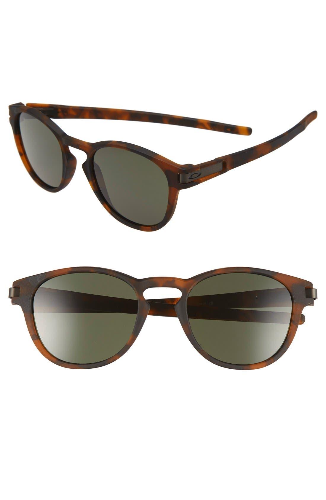 'Latch<sup>™</sup>' 53mm Retro Sunglasses,                             Main thumbnail 1, color,                             Brown