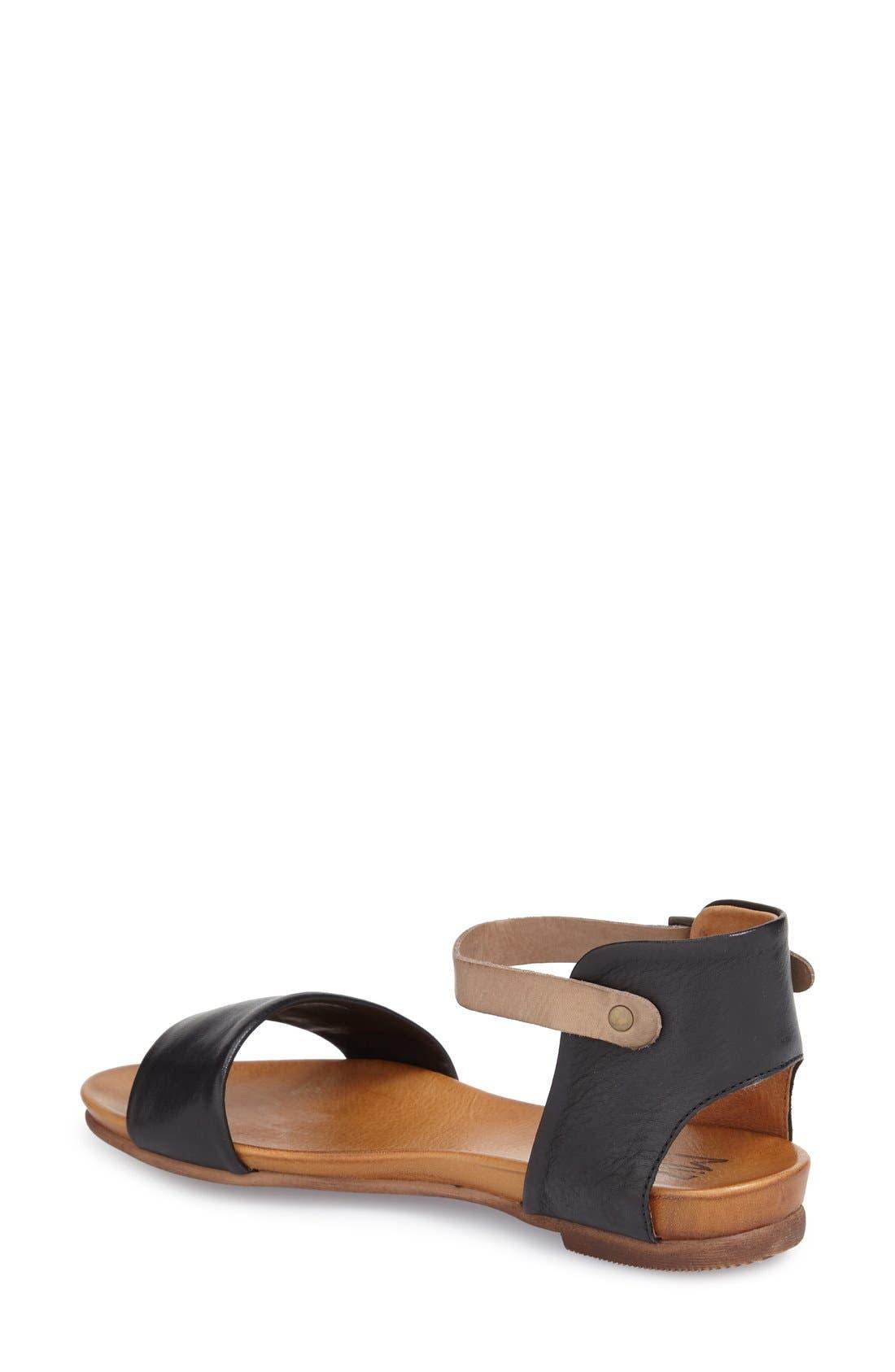 'Alanis' Sandal,                             Alternate thumbnail 2, color,                             Black Leather