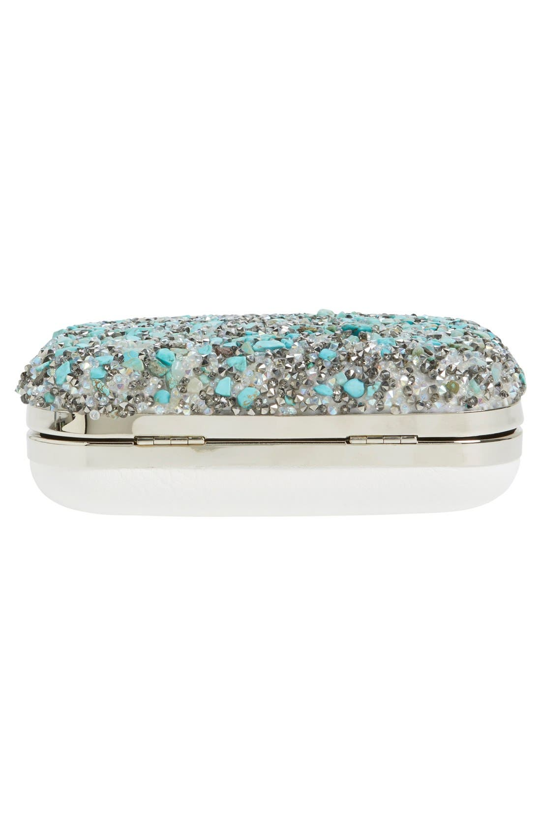 Alternate Image 6  - Natasha Couture Stone & Crystal Clutch