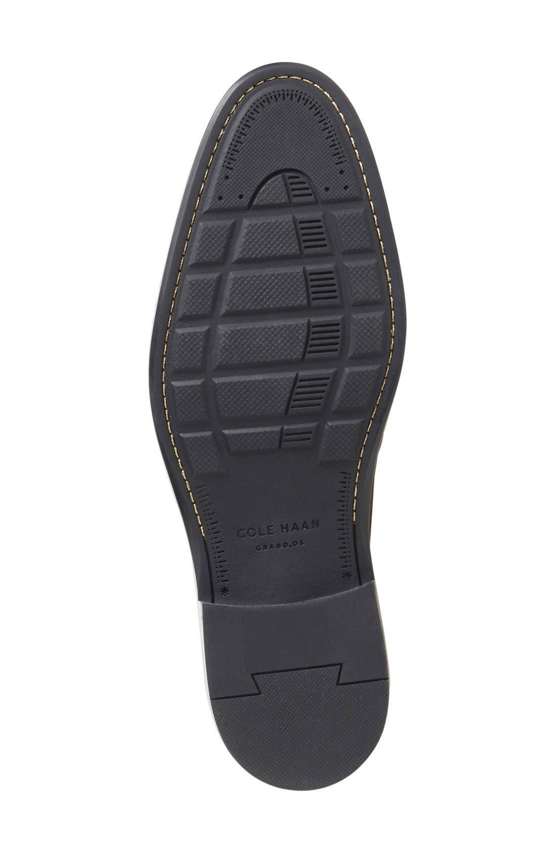 Warren Welt Wingtip,                             Alternate thumbnail 4, color,                             Black Mill Leather
