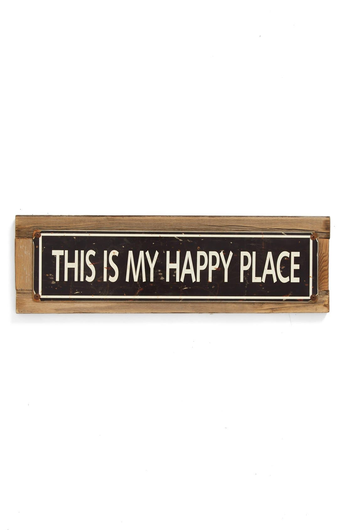 Alternate Image 1 Selected - Poncho & Goldstein 'This Is My Happy Place' Sign