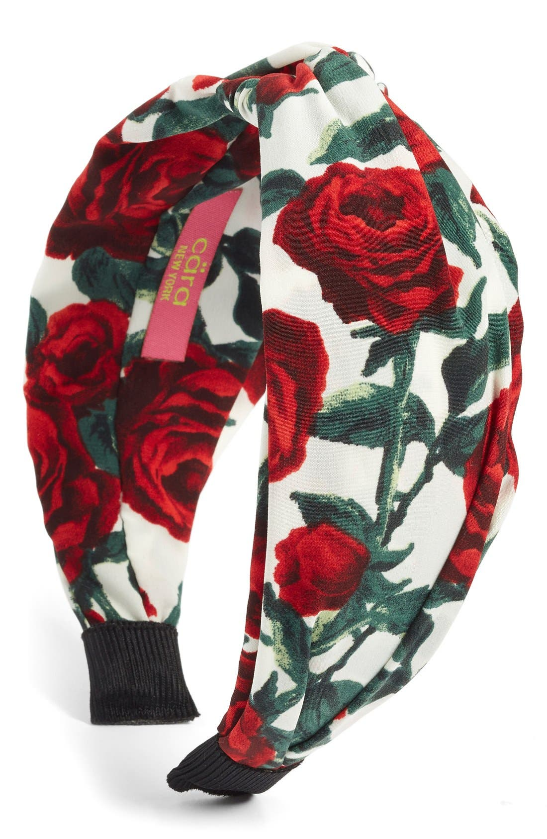 Cara Rose Print Twist Knot Headband
