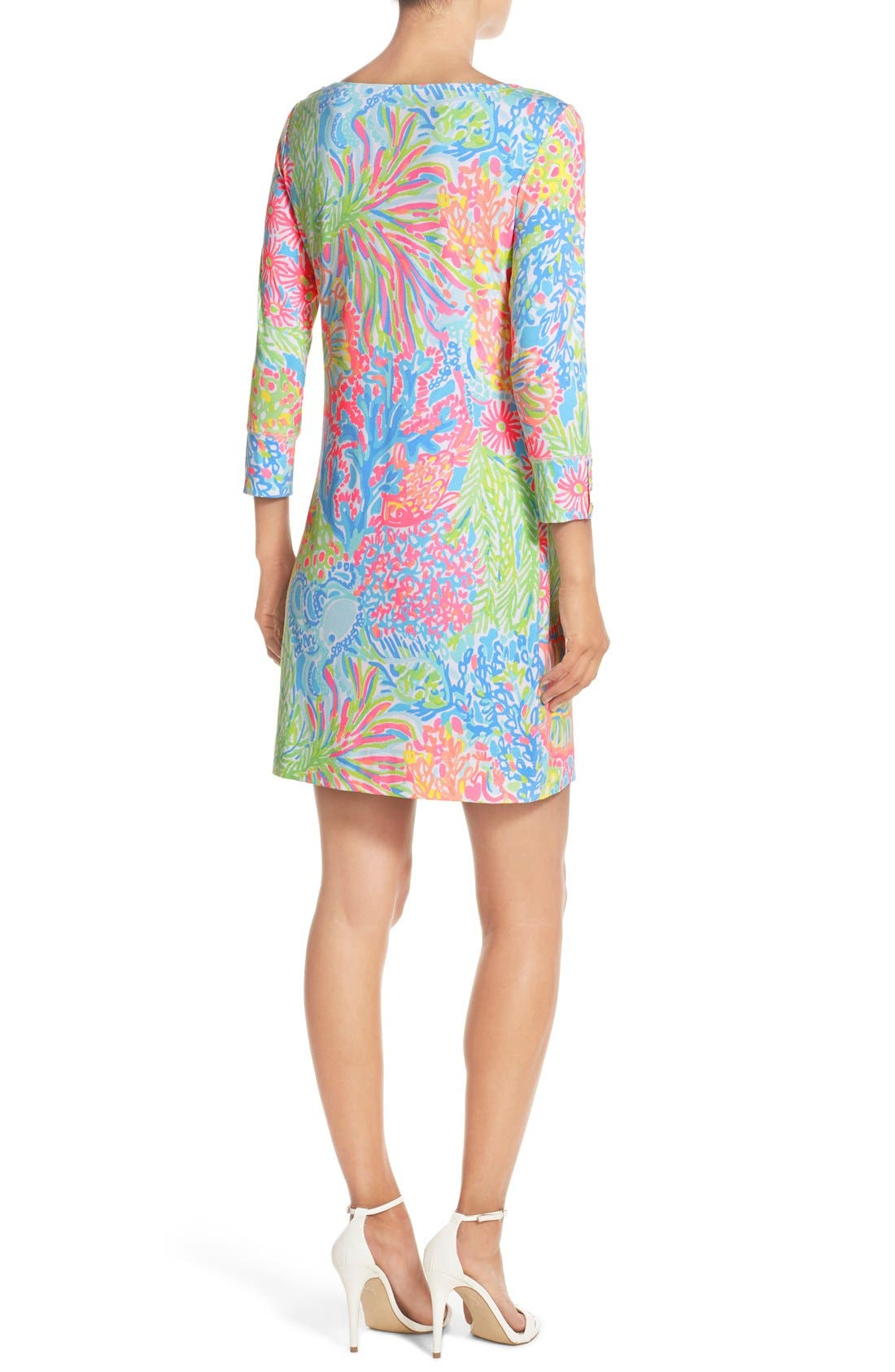 Alternate Image 2  - Lilly Pulitzer® 'Sophie' Print Jersey Shift Dress (UPF 50)