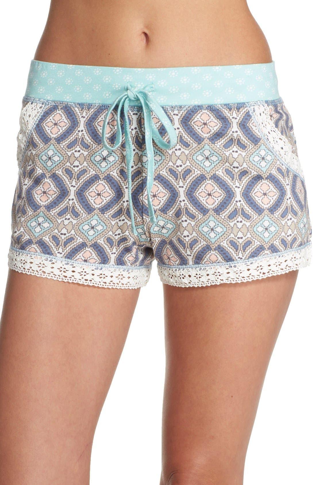 Main Image - PJ Salvage 'Miss' Print Pajama Shorts