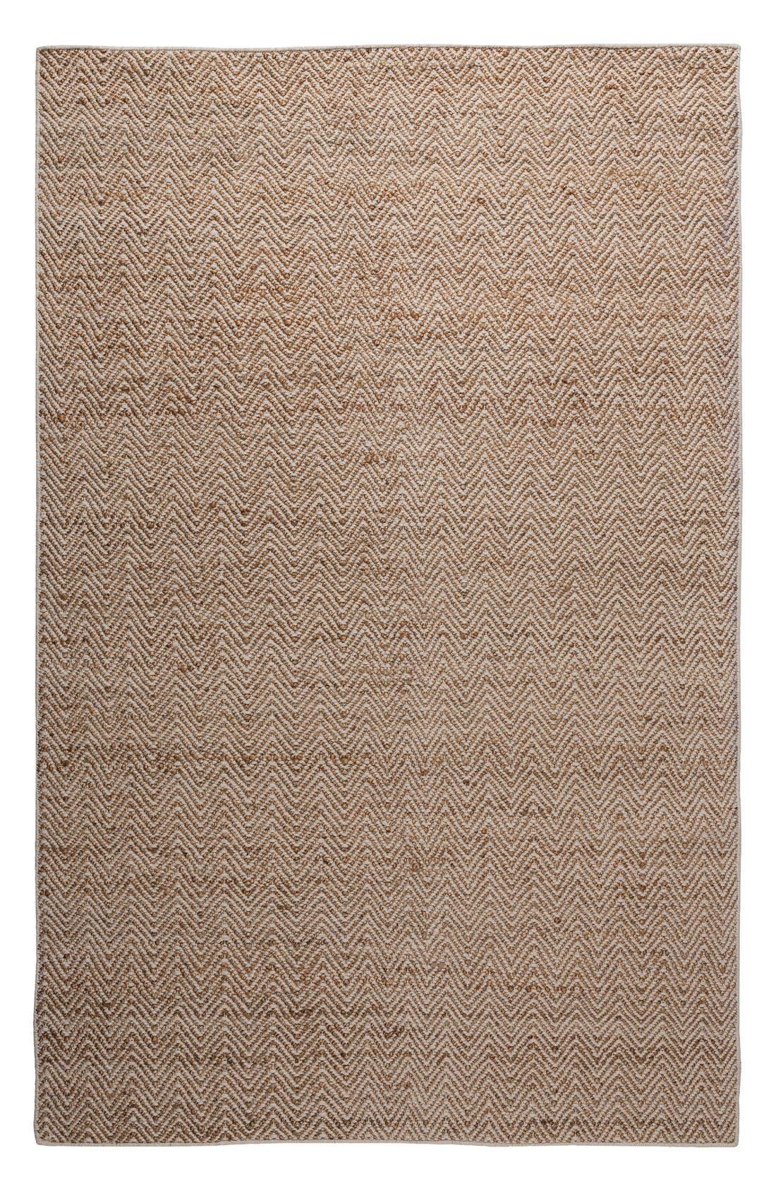 'Ellington' Hand Loomed Jute & Wool Area Rug,                             Main thumbnail 1, color,                             Beige