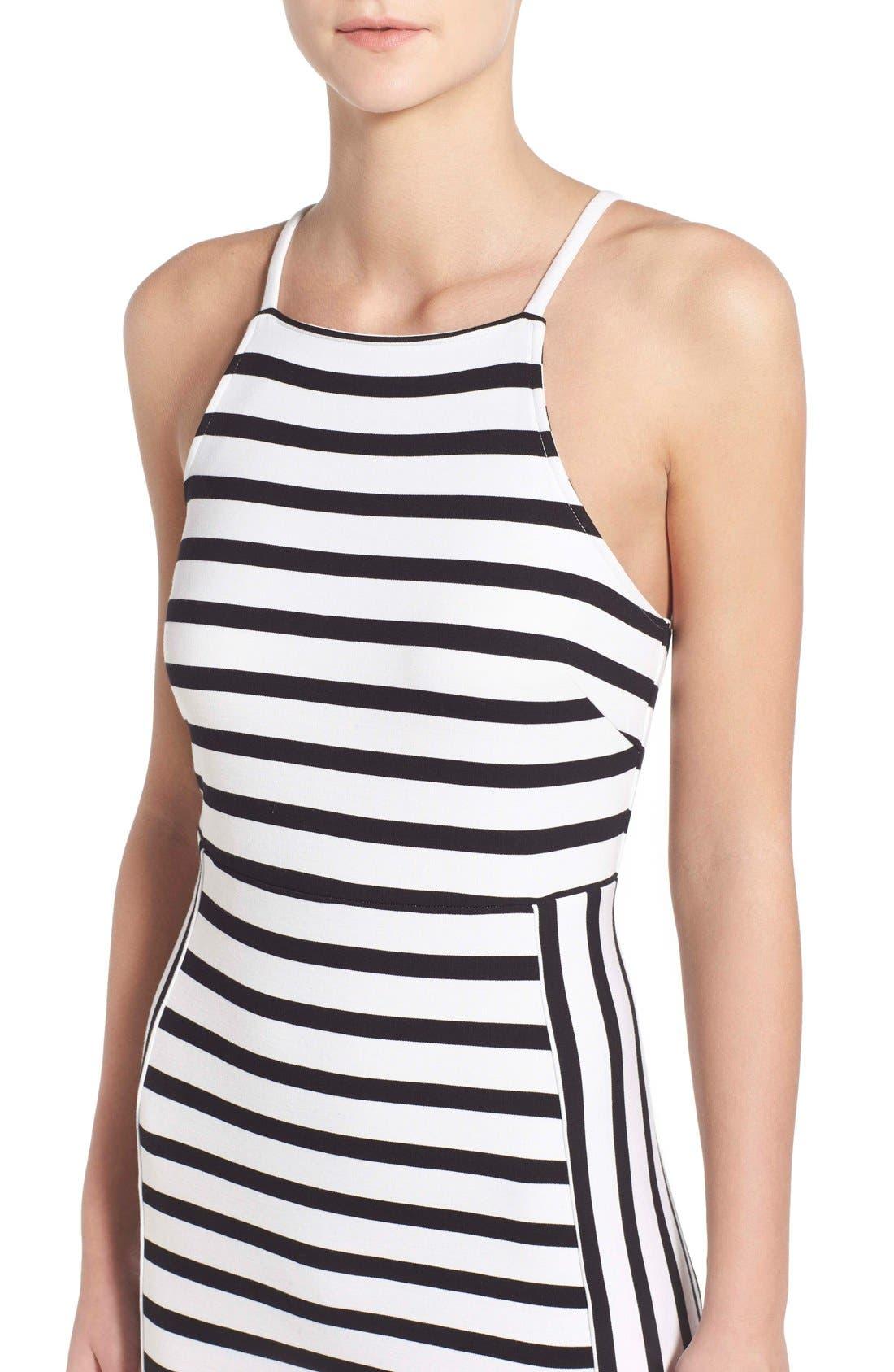 Alternate Image 4  - cupcakes and cashmere 'Elliot' Stripe Body-Con Dress