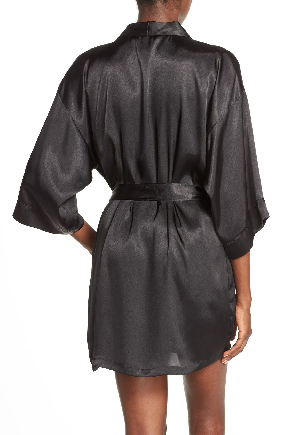Alternate Image 2  - In Bloom by Jonquil Satin Robe (Nordstrom Exclusive)