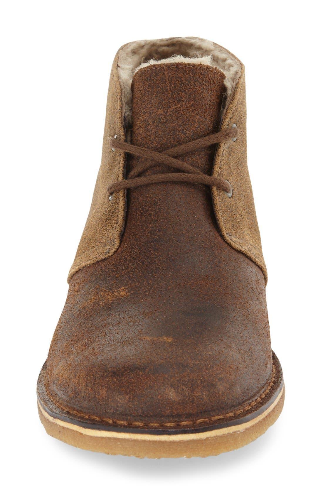 Leighton Chukka Boot,                             Alternate thumbnail 3, color,                             Bomber Jacket Chestnut