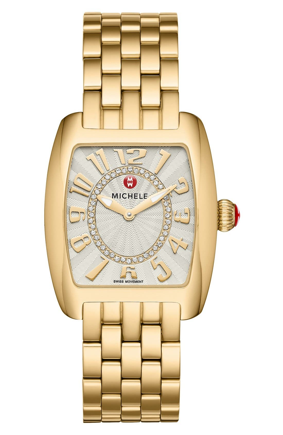 Alternate Image 2  - MICHELE Urban Mini Diamond Dial Watch Head, 29mm x 31mm