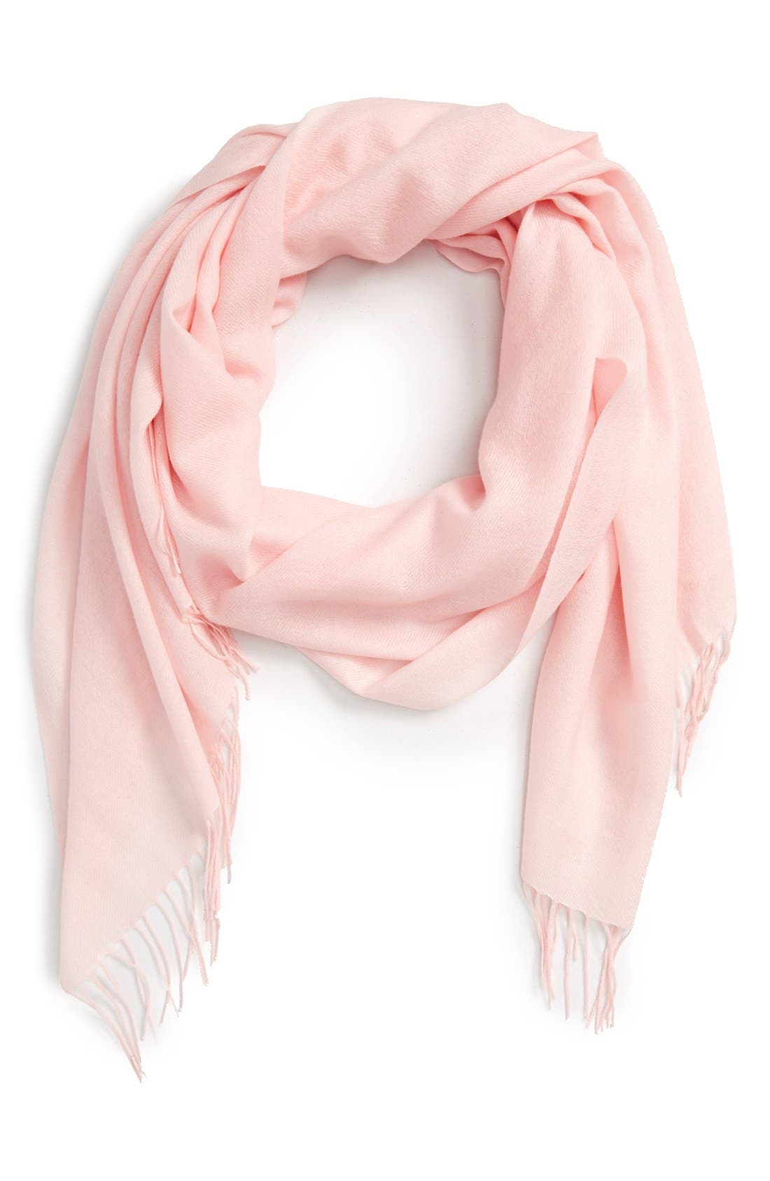 Main Image - Nordstrom Tissue Weight Wool & Cashmere Scarf