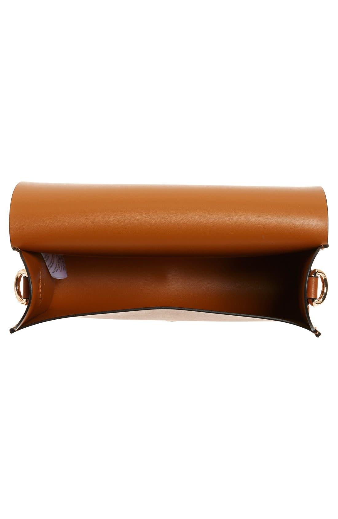 Alternate Image 4  - Cesca Faux Leather Crossbody Bag