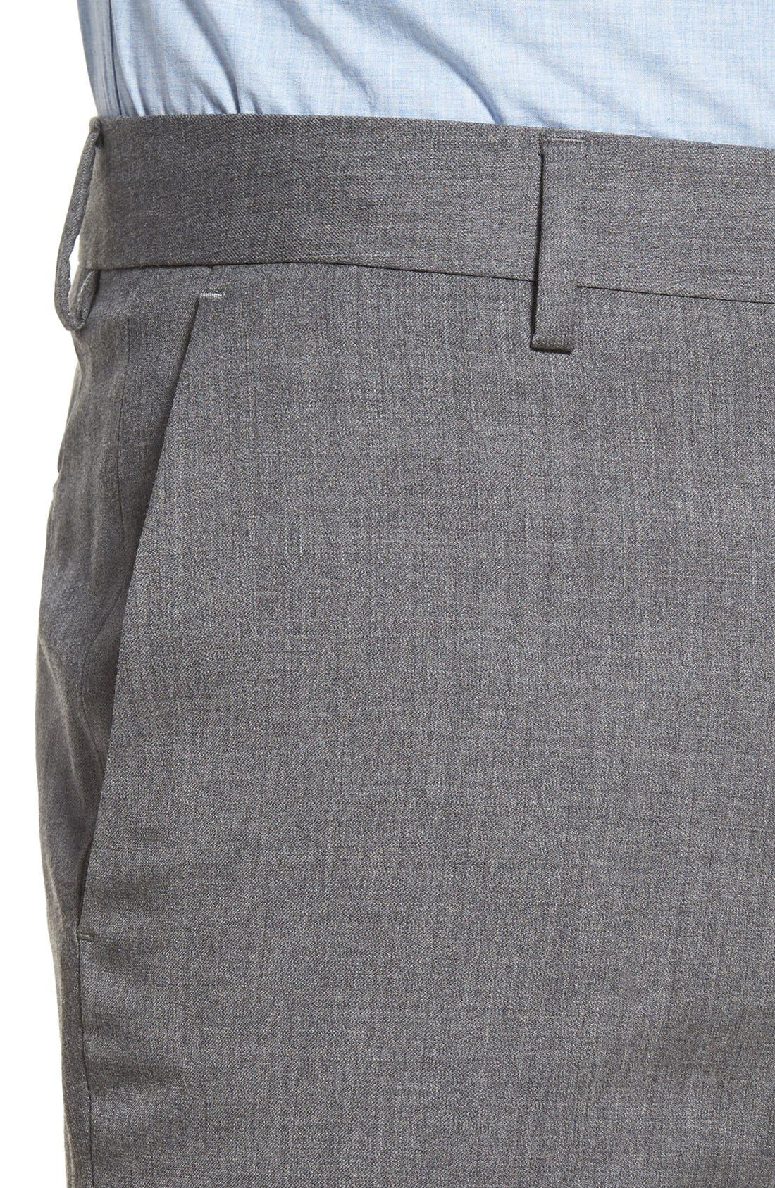 Alternate Image 4  - Bonobos Jetsetter Slim Fit Flat Front Solid Stretch Wool Trousers