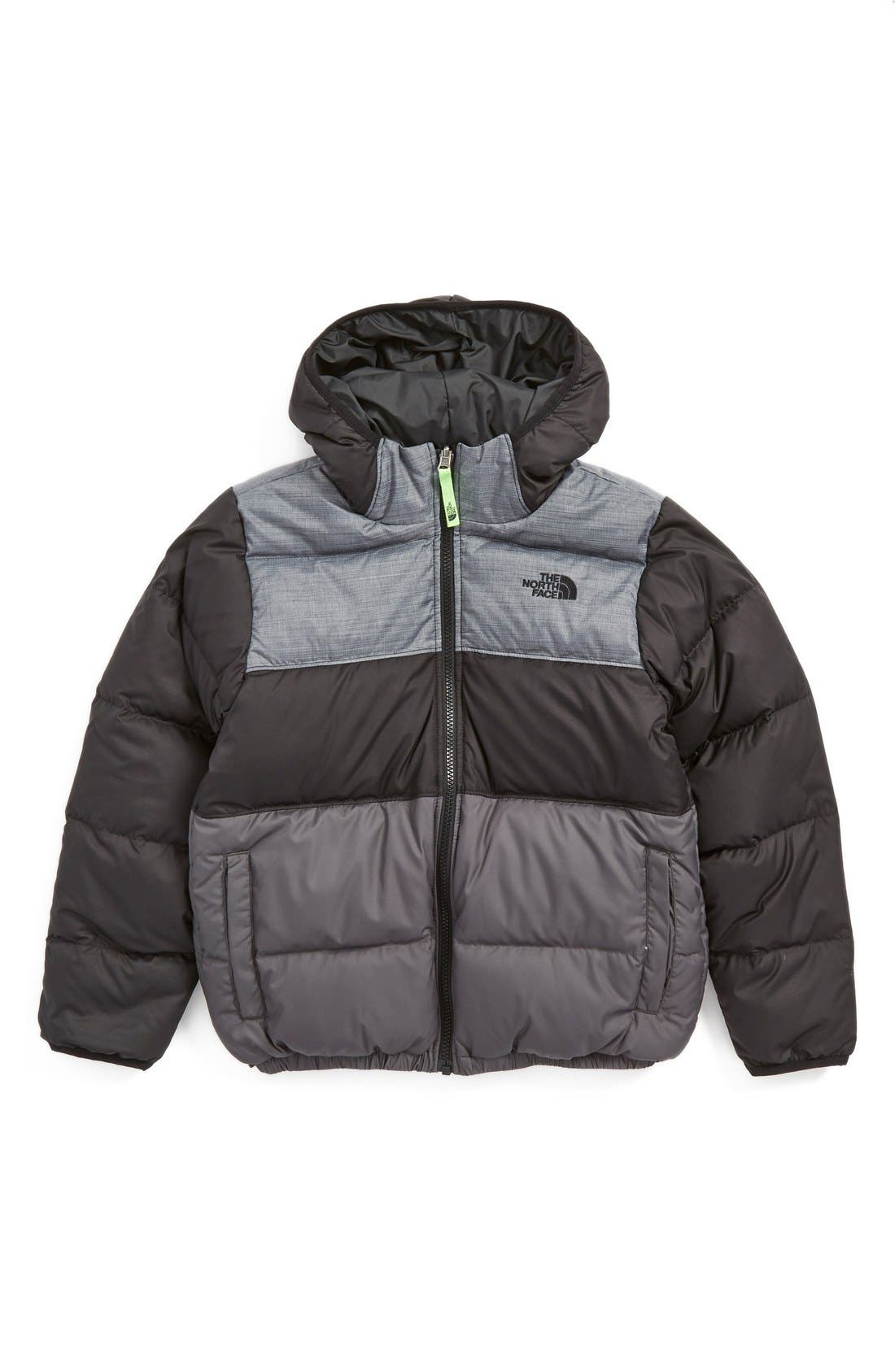 Main Image - The North Face 'Moondoggy' Water Repellent Reversible Down Jacket (Big Boys)
