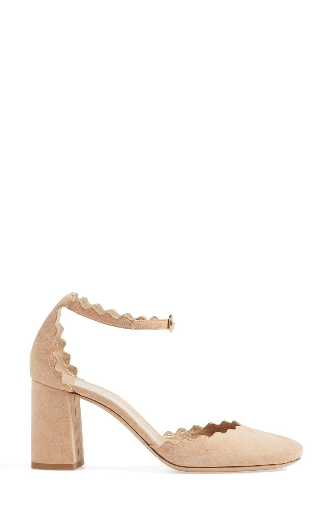 Alternate Image 4  - Chloé Scalloped Ankle Strap d'Orsay Pump (Women)
