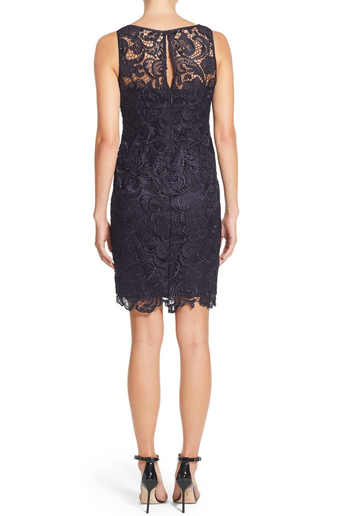Alternate Image 3  - Adrianna Papell Illusion Bodice Lace Sheath Dress