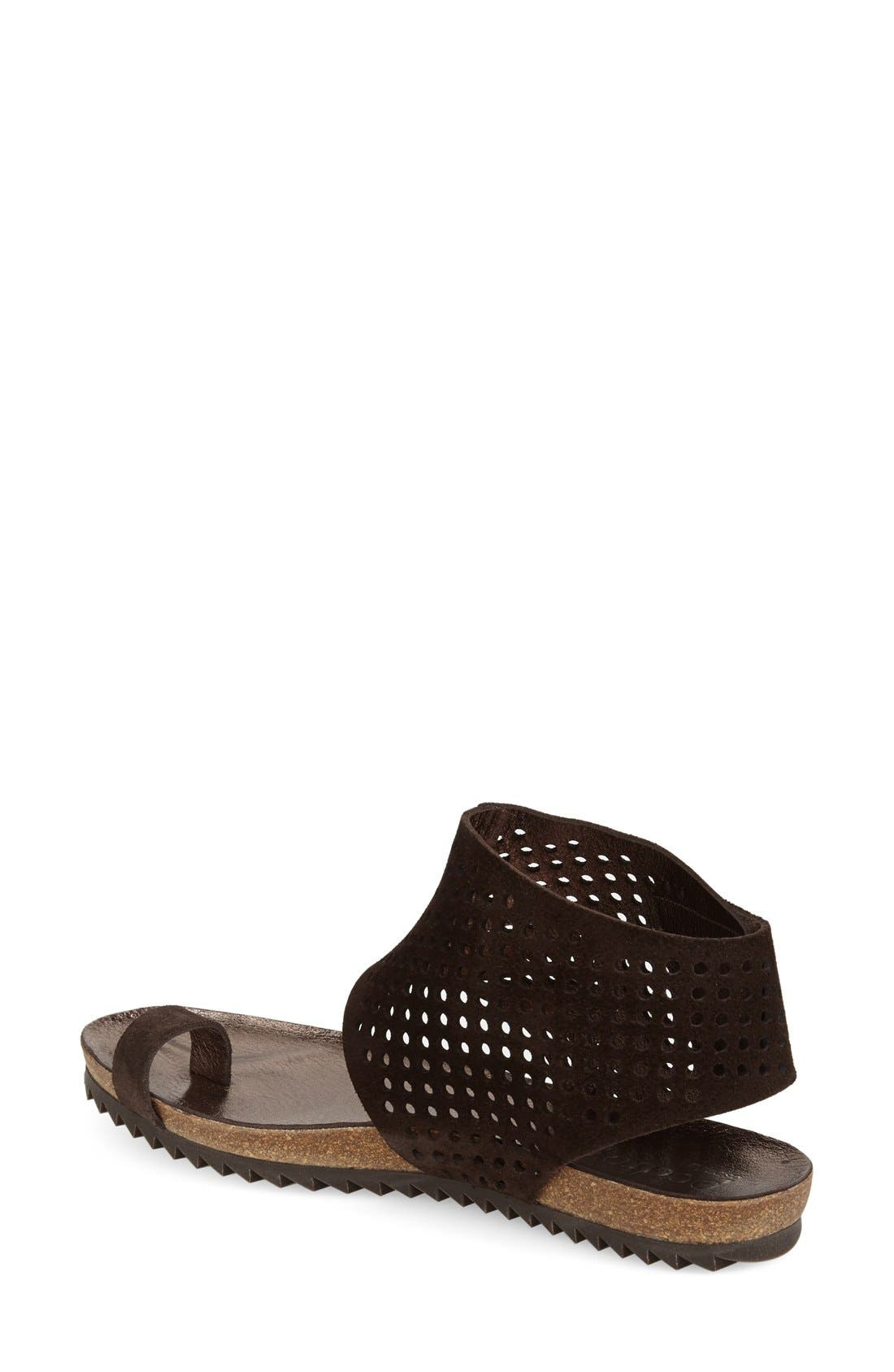 Alternate Image 2  - Pedro Garcia Perforated Ankle Cuff Sandal (Women)