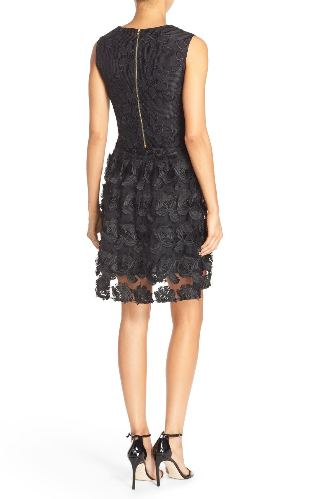 Alternate Image 2  - Ali & Jay Lace Embroidered Two-Piece Dress