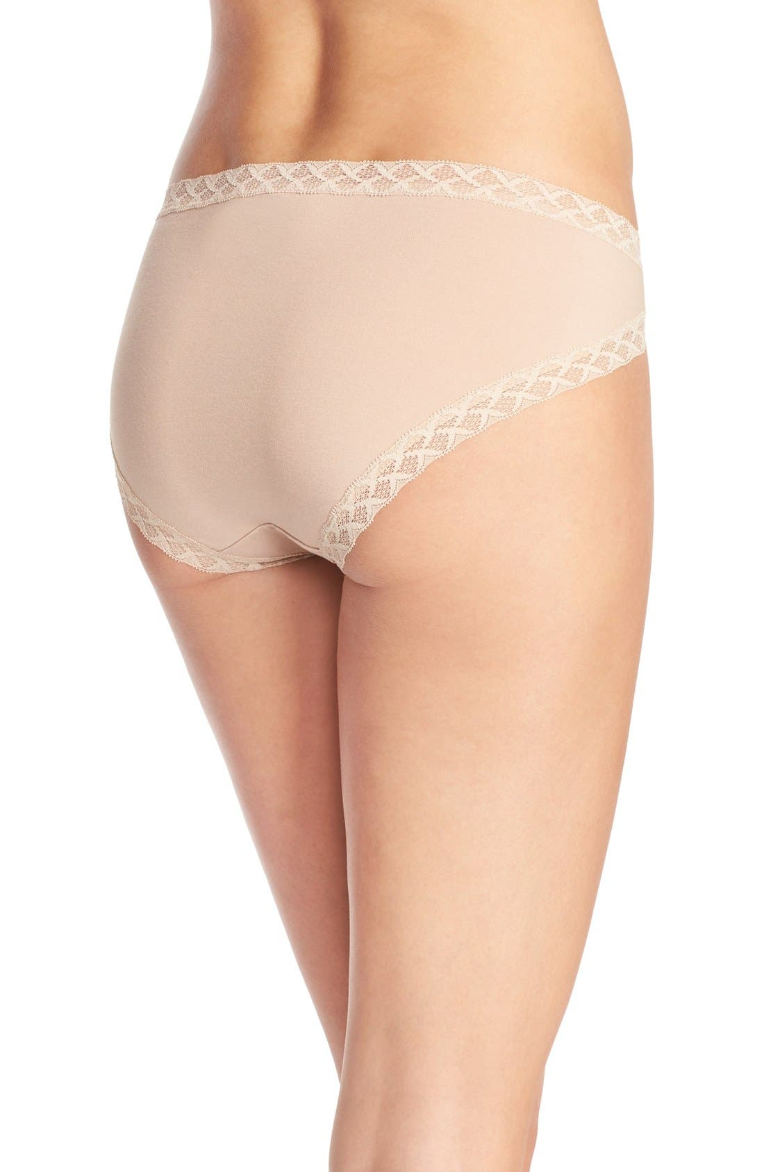 Bliss French Cut Briefs,                             Alternate thumbnail 2, color,                             Cafe