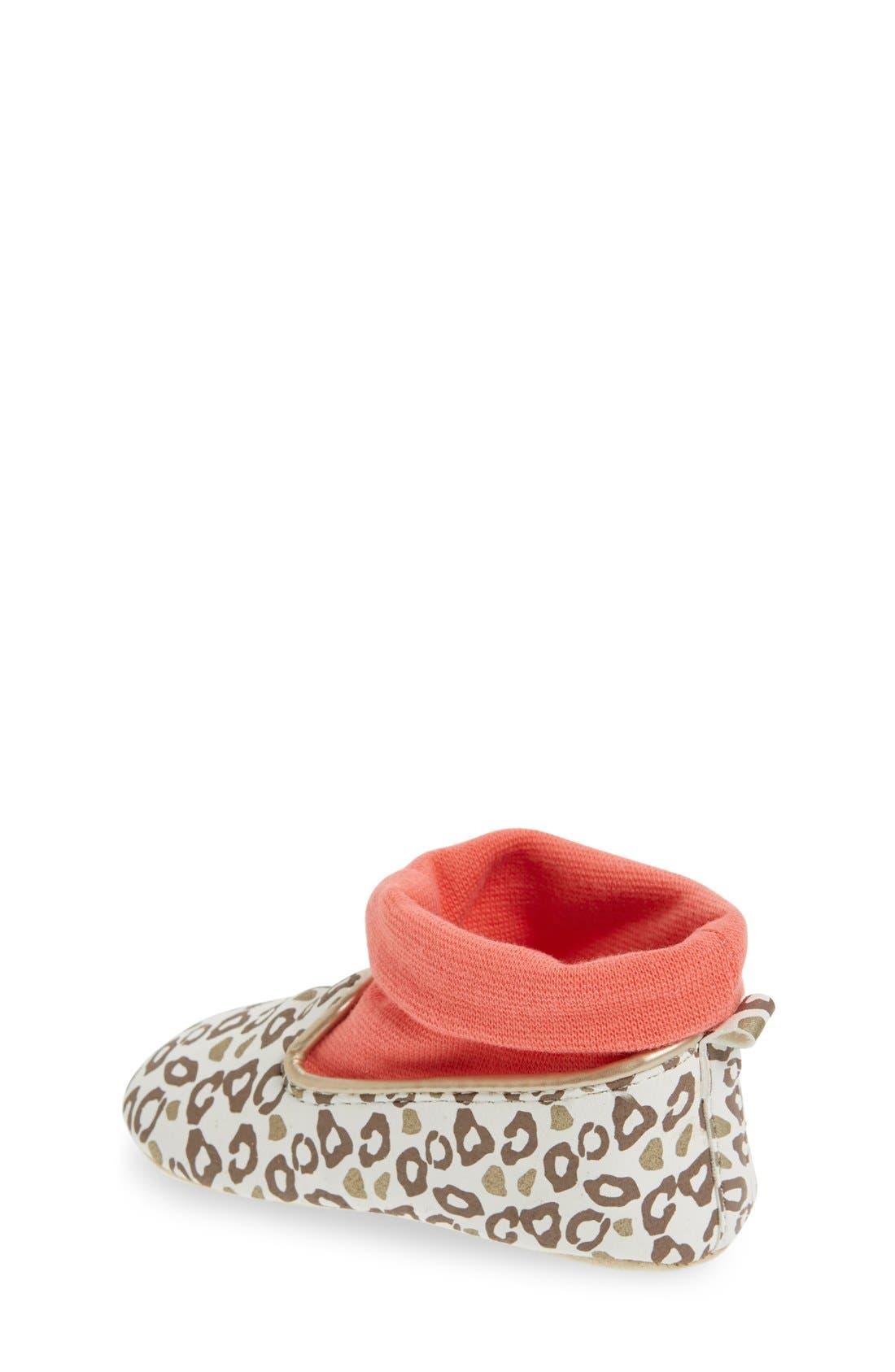 Alternate Image 2  - Rosie Pope 'Playful Leopard' Crib Shoe (Baby)