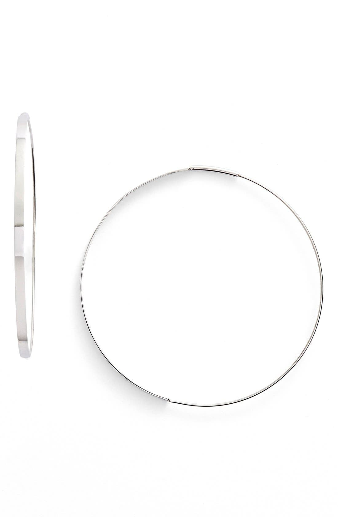 LANA JEWELRY Flat Magic Medium Hoop Earrings