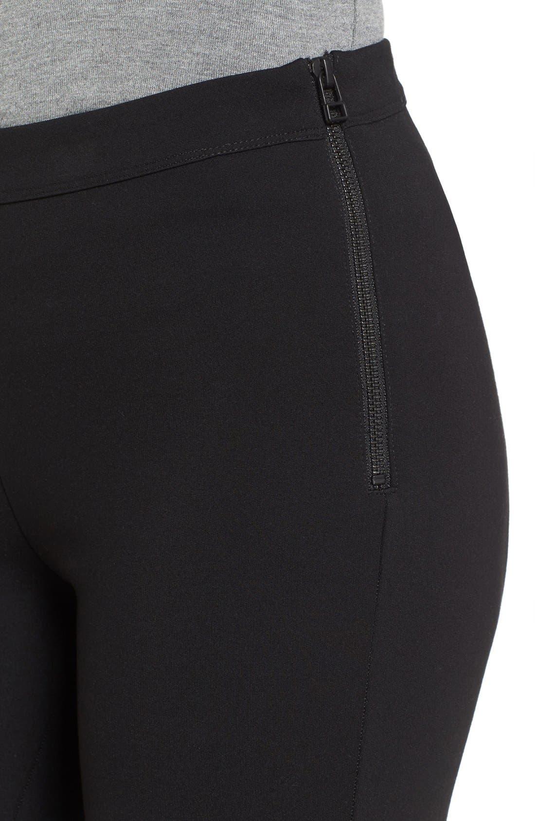 Alternate Image 5  - Halogen® Side Zip Ponte Ankle Pants (Regular & Petite)