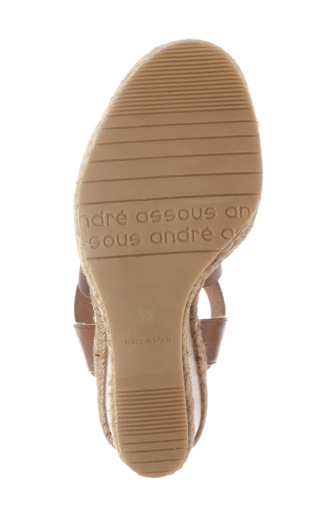 Alternate Image 4  - André Assous 'Cassandra' Wedge Sandal (Women)