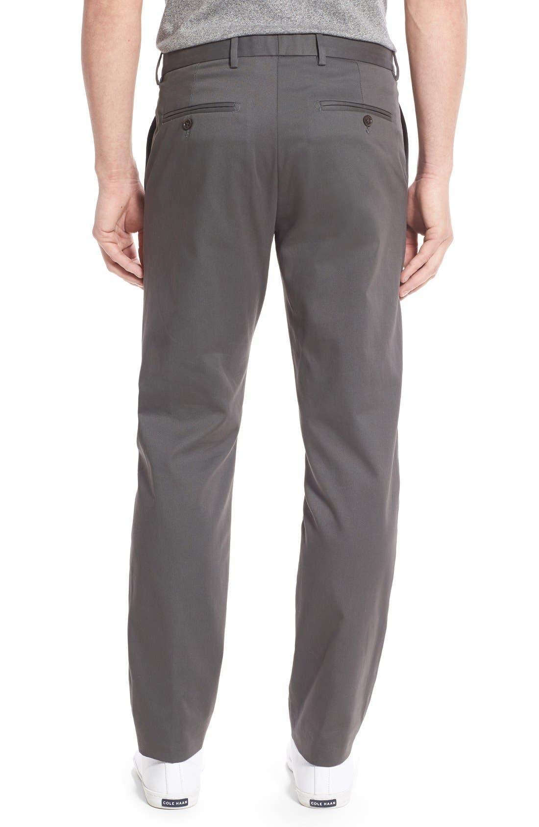 Alternate Image 2  - Nordstrom Men's Shop Smartcare™ Slim Leg Twill Pants