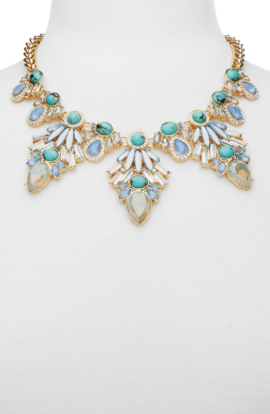'Baltic' Collar Necklace,                             Alternate thumbnail 2, color,                             Gold/ Turquoise
