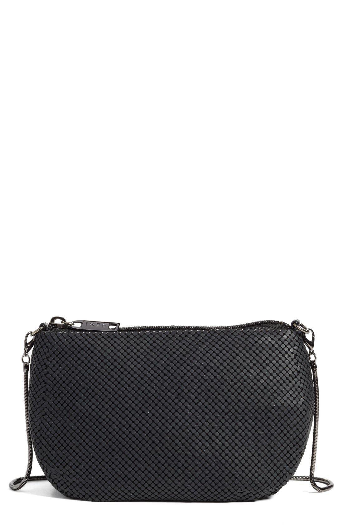'Matte' Mesh Crossbody Bag,                         Main,                         color, Matte Black