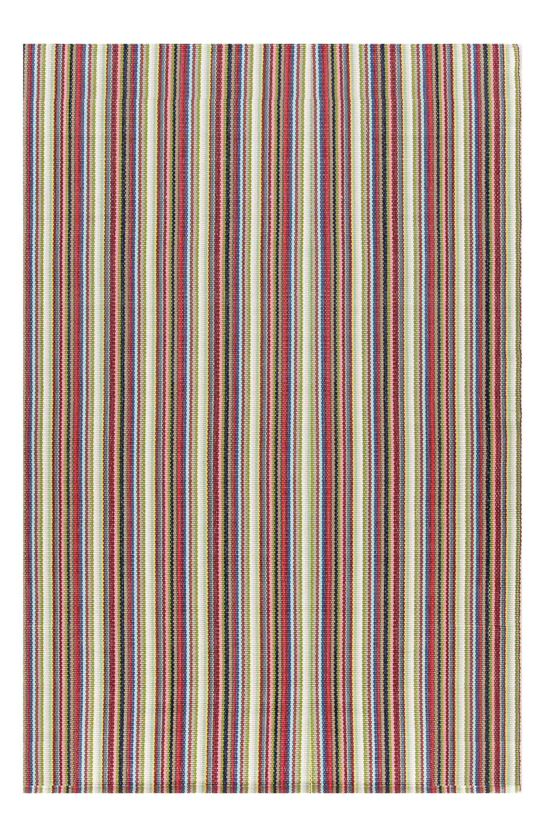 'Toluca' Stripe Indoor/Outdoor Rug,                             Main thumbnail 1, color,                             Red/ Multi