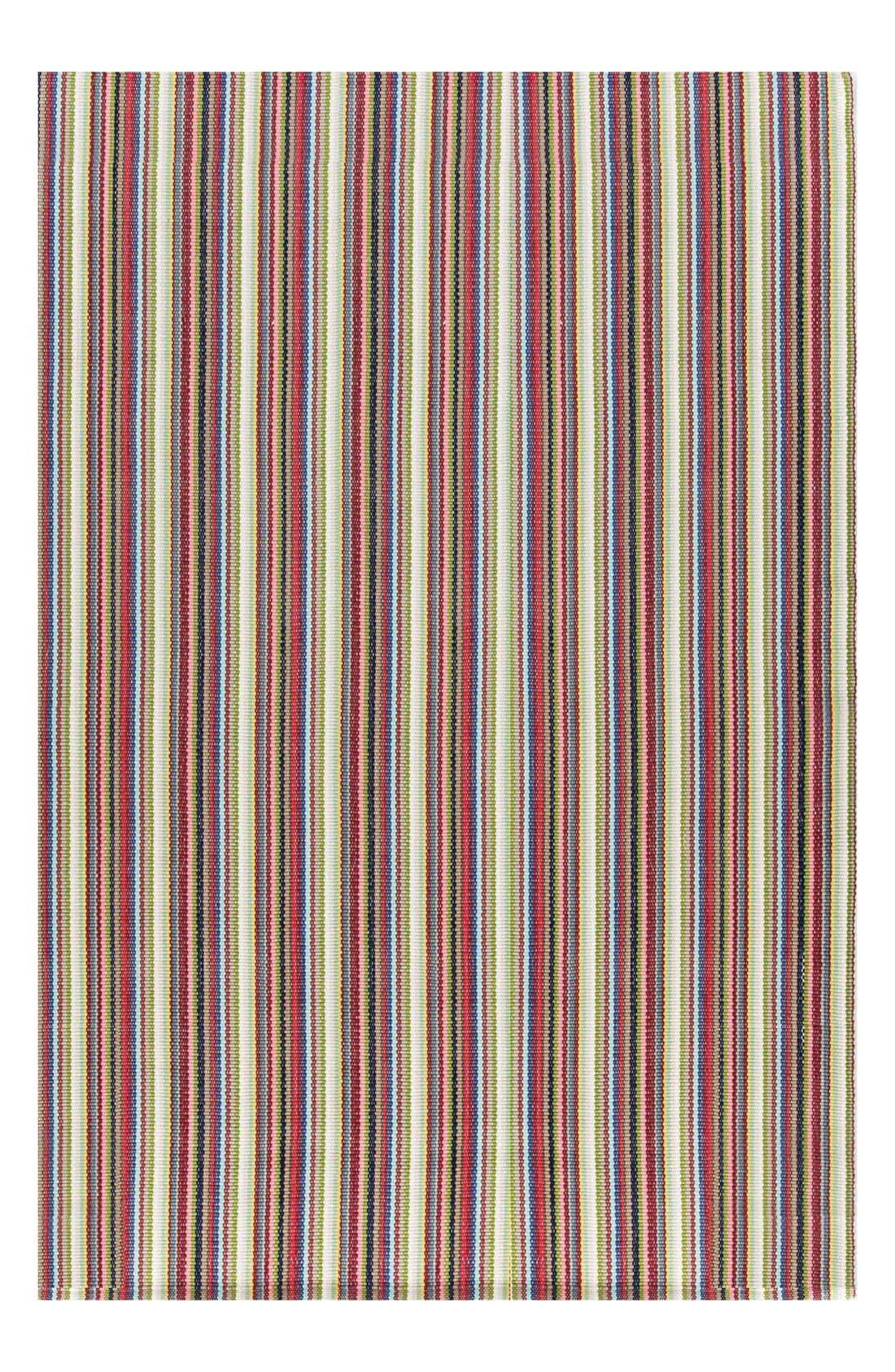 'Toluca' Stripe Indoor/Outdoor Rug,                         Main,                         color, Red/ Multi