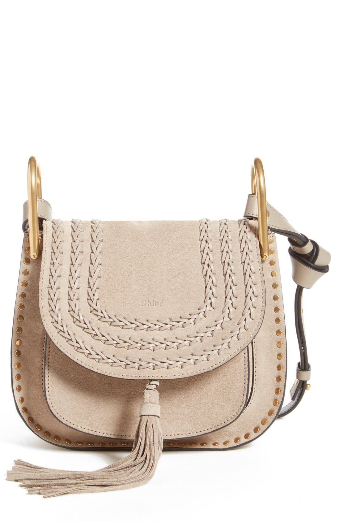 'Small Hudson' Shoulder Bag,                             Main thumbnail 1, color,                             Motty Grey