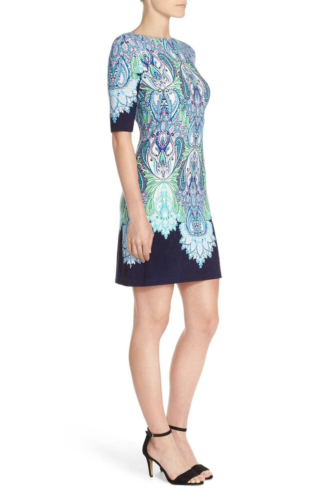 Alternate Image 3  - Eliza J Print Jersey Shift Dress (Regular & Petite)