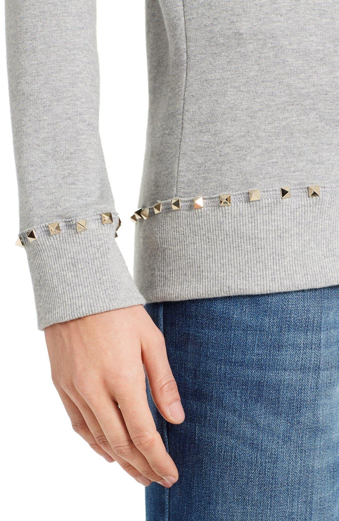 Alternate Image 6  - Valentino Studded Crewneck Sweatshirt
