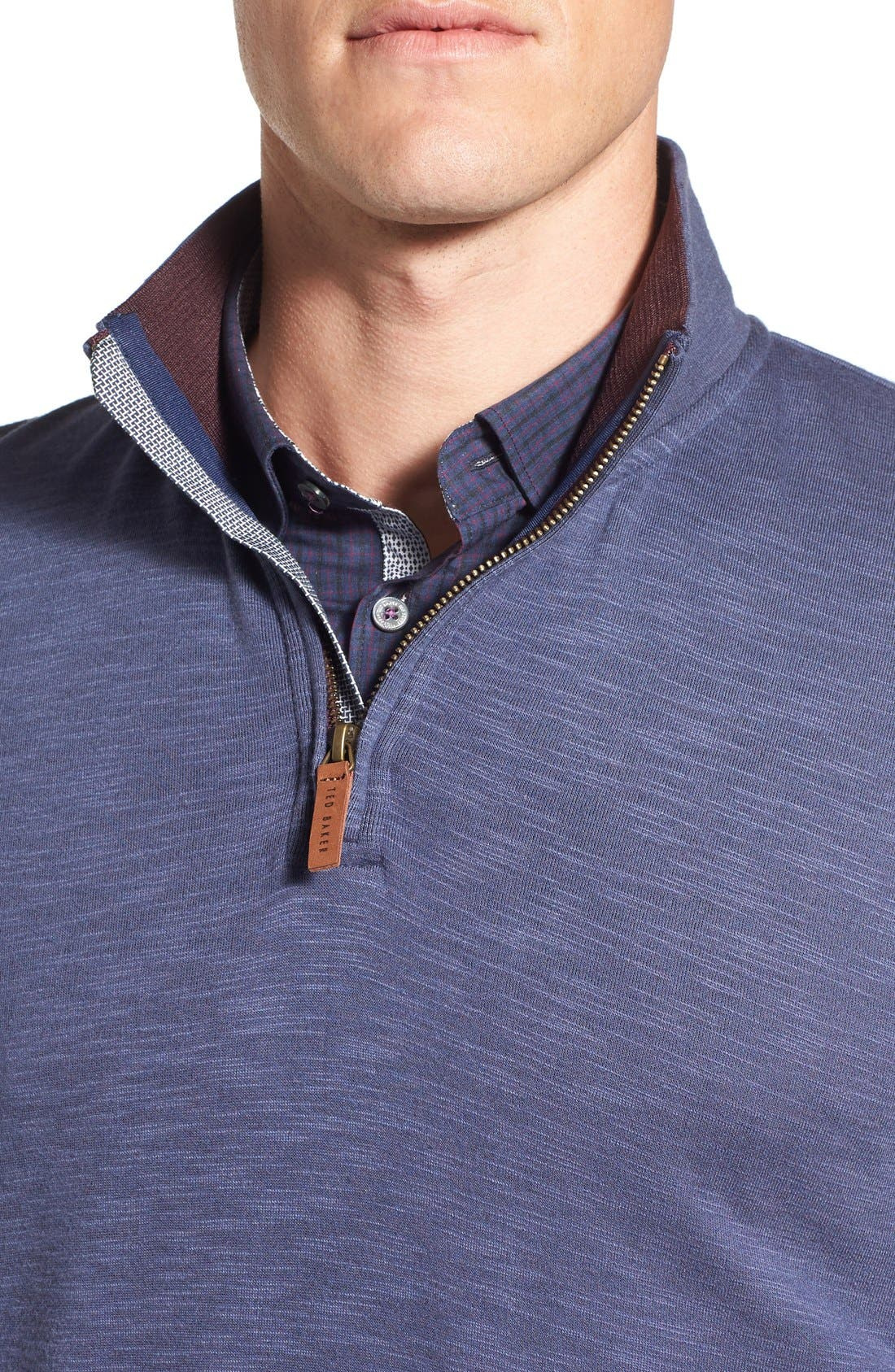 'Mandra' Quarter Zip Pullover,                             Alternate thumbnail 4, color,                             Dark Blue