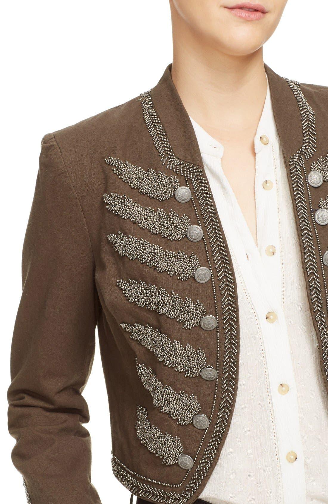 Alternate Image 4  - Free People Embellished Band Jacket