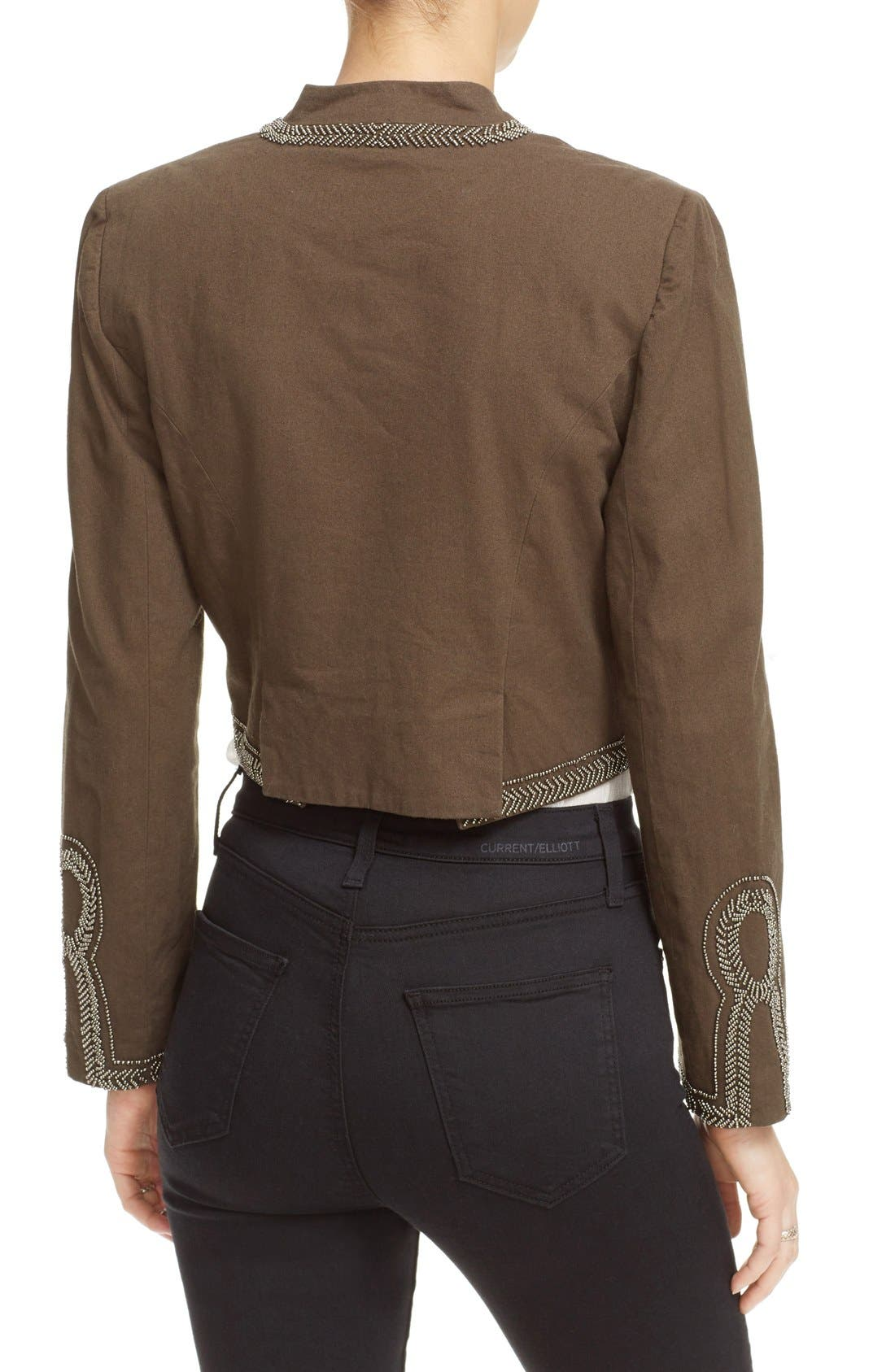 Alternate Image 2  - Free People Embellished Band Jacket