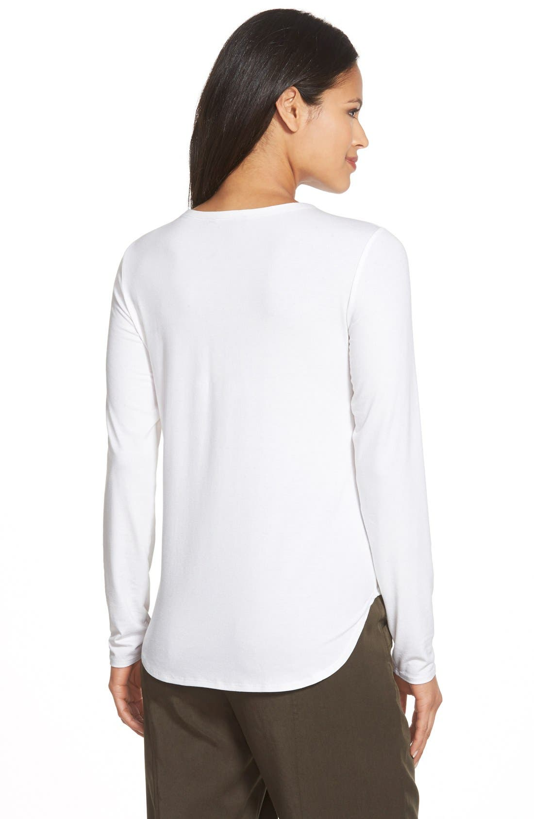 Alternate Image 2  - Eileen Fisher Crewneck Jersey Top