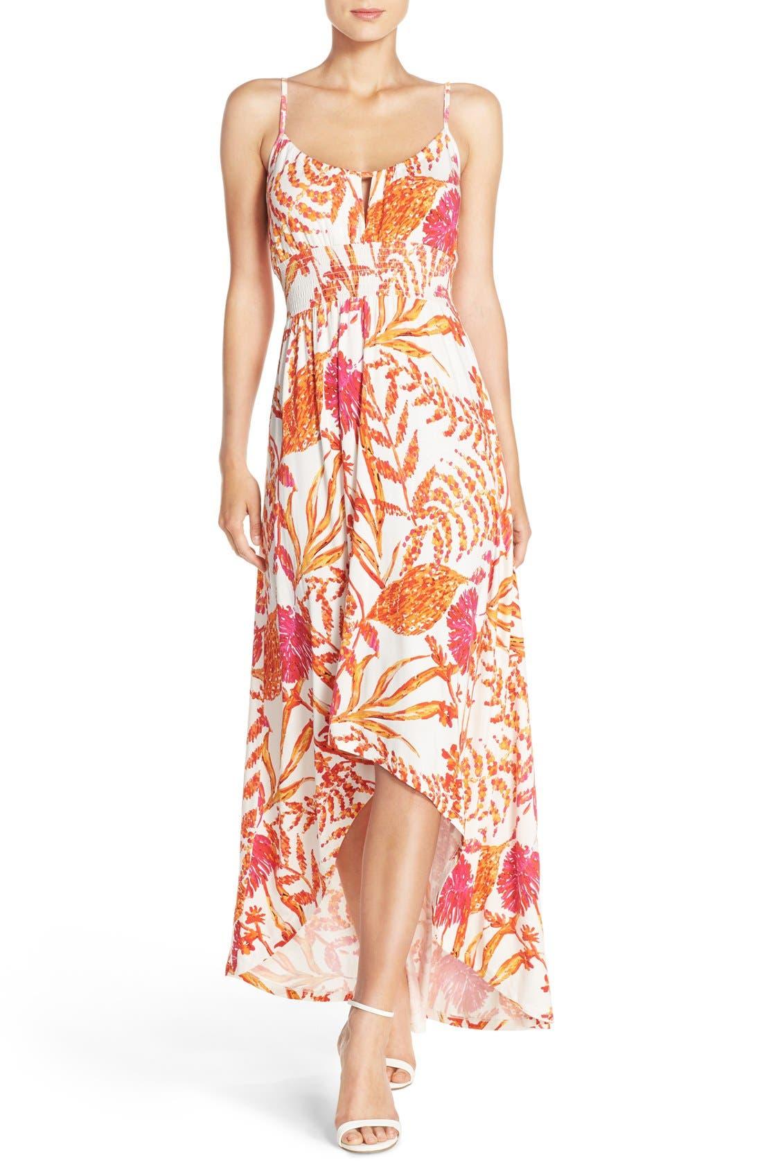 Felicity & Coco Floral Print Maxi Dress (Regular & Petite) (Nordstrom Exclusive)