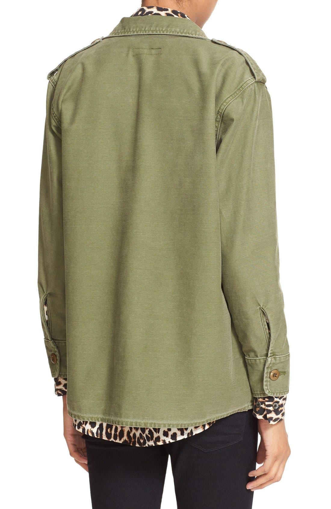 Alternate Image 2  - Kate Moss for Equipment 'Major' Shirt Jacket